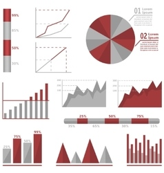 Infographic graph set vector