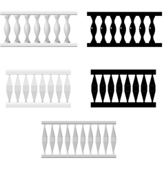 Set of silhouettes balusters vector