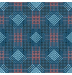 Pattern blue and red background with rhombus squar vector