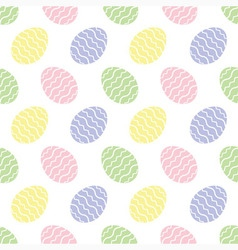 background seamless - Easter eggs vector image