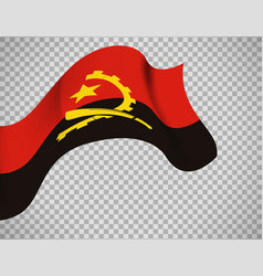 angola flag on transparent background vector image