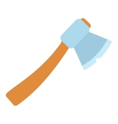 Axe icon flat style vector image
