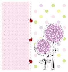 Babies card design vector
