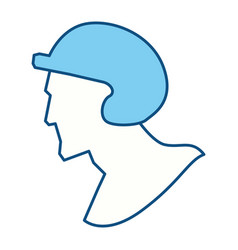 Baseball player pictogram vector