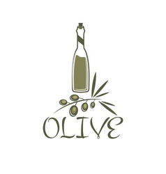branch of olives and a bottle of olive oil vector image vector image