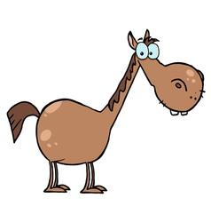 cartoon character horse vector image
