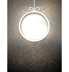 Christmas paper ball vector image