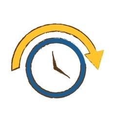 Clock with arrow icon image vector