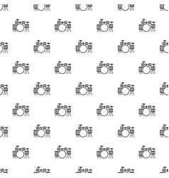 Drum kit pattern vector