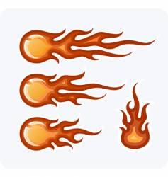 fire-balls vector image vector image