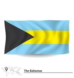 Flag of Bahamas vector image vector image