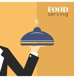 Food serving tray platter vector image