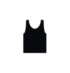 isolated singlet icon sleeveless tank vector image