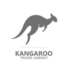 Kangaroo icon or logo vector