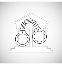 Law design justice icon flat vector