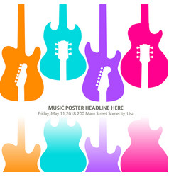 live music poster template for concert vector image