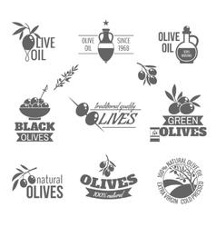 Olives label set vector image vector image