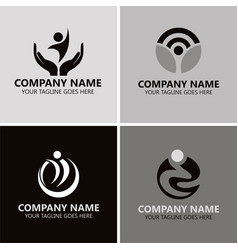people success logos vector image vector image