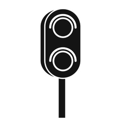 Semaphore trafficlight icon simple style vector image vector image