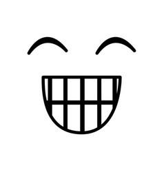 Sketch silhouette emoticon happines expression vector