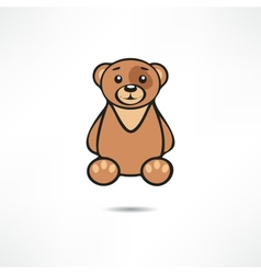 Smiling bear vector image