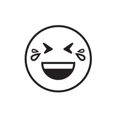 Smiling cartoon face laugh positive people emotion vector