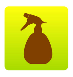 Spray bottle for cleaning sign brown icon vector