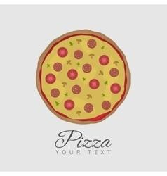 Tasty pizza vector