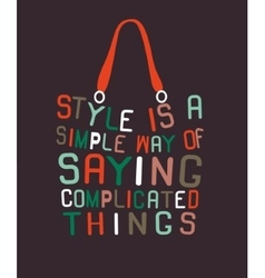 Woman bag made from quotes vector image vector image