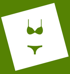 Women swimsuit sign white icon obtained vector
