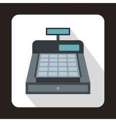 Cash register icon flat style vector