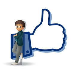 boy and thumb vector image