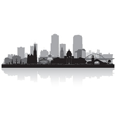 Little rock arkansas city skyline silhouette vector