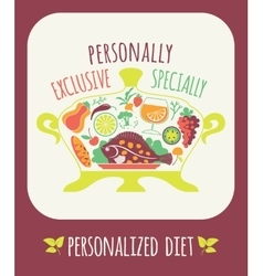 Personalized diet vector