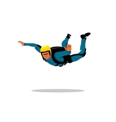 Skydiving sign vector