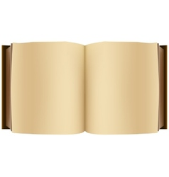 Brown open book vector