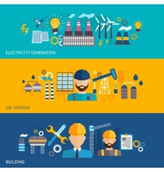 Industrial banner set vector