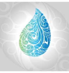water drop vector illustration vector image