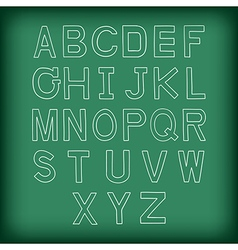 A to z uppercase alphabet handrawn vector