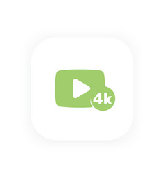 4k video icon play button vector