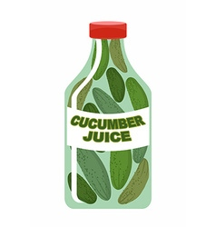 Cucumber juice juice from fresh vegetables vector