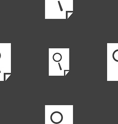 Search in file sign icon find document symbol vector