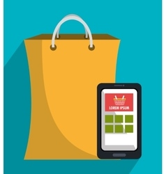Shopping and sales icon graphic vector