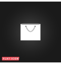 Shopping bag flat icon vector