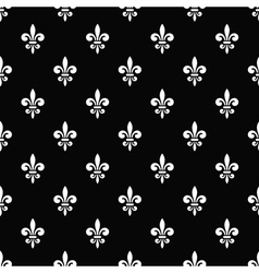Golden fleur-de-lis seamless pattern black 7 vector image