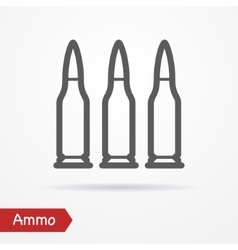 Ammo silhouette icon vector