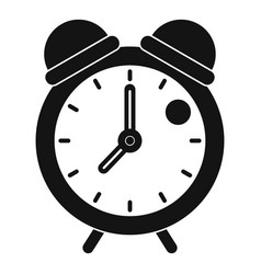 Alarm clock retro classic design icon simple style vector