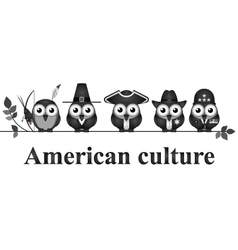 American culture vector image vector image