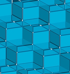 Background blue cube vector image vector image