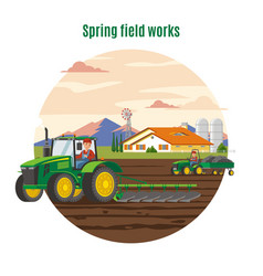 Colorful agriculture and farming concept vector